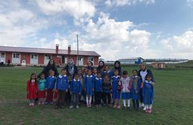 Students of Lisan-ı Hâl Club Set Up a Village School Library